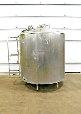 Mo-3979 Girton 800 Gallon Stainless Jacketed Processor Tank W Mixing Blades