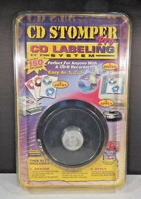 Cd Stomper Pro Cd Labeling System Cddvd Create Personal 150 Labels Sealed New