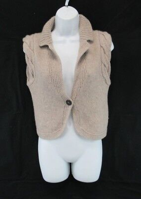 Iris Von Arnim 100% Cashmere One Button Vest Sweater Women's Italy Size S #CK956