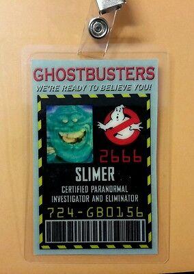 Ghostbusters ID Badge - Slimmer   cosplay costume prop  (Slimmer Costume)
