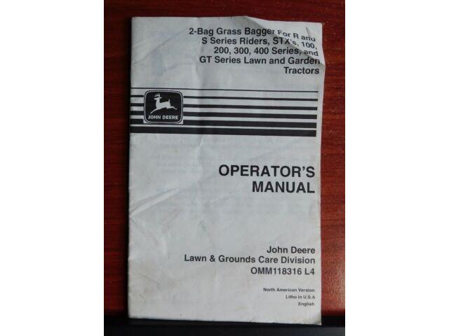 John Deere Operators Manual - Grass Bagger- R S ST