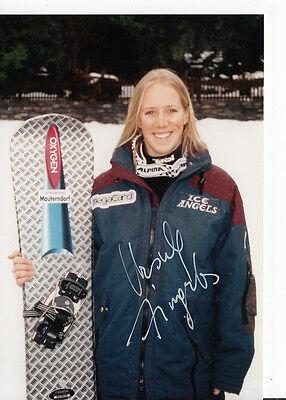 Usula Fingerlor TOP Foto Original Signiert Snowboard +A37733