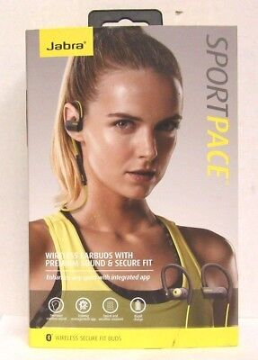 Jabra Sport Pace Earbuds Wireless Bluetooth Stereo Headphones Yellow and Black for sale  Clearwater