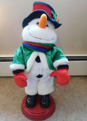 Gemmy Animated Lighted Snowflake Singing Dancing Snowman