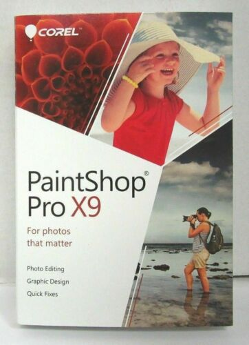 Corel Paintshop Pro X9 - Photo & Design Software for Windows - Full Version