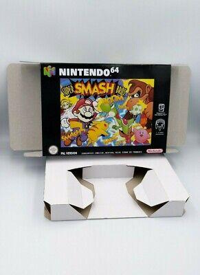 Super Smash Bros - repro box with insert - N64 - Pal, NTSC or Australian Pal.