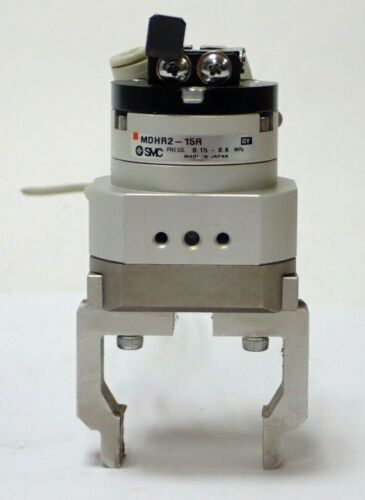 Smc Mdhr2-15r Rotary Actuated Air Gripper 2-finger Type, D-f9p Actuator Switch