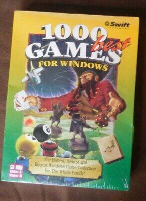 1000 Best Games For Windows 3.1 and '95 CD Rom Card Action Childrens New (New Best Action Game)