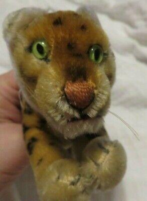 Steiff vintage standing Leopard stuffed animal original w/ Stieff tag Green eyes