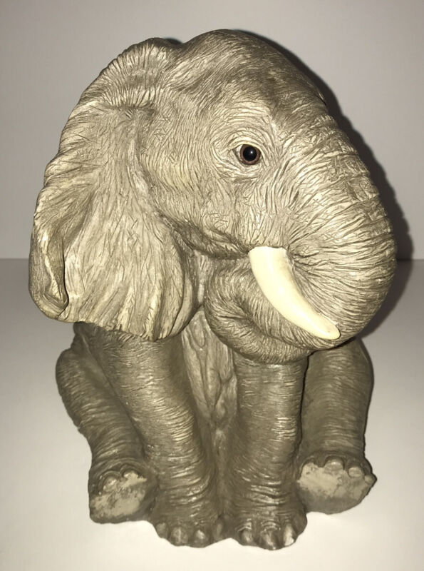 """Elephant Bank, Sitting;  Bank Makers of America with Original Stopper 10"""" H"""