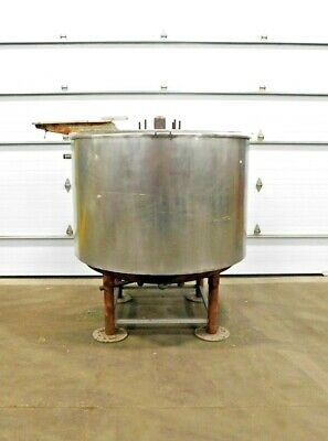 Mo-3980 Stainless 500 Gallon Jacketed Mixing Kettle Tank. 48 Dia X 52 Deep.