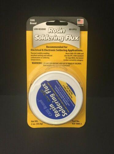 CAIG RSF-R80-2 - Rosin Soldering Flux - 2 oz. (56.6g) Jar - RMA Paste Flux - NEW