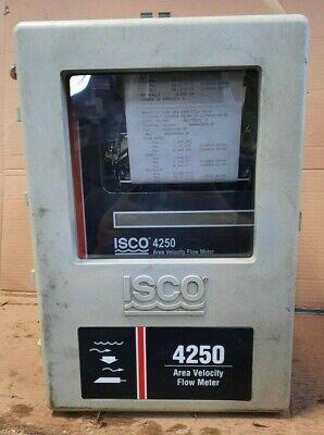 Teledyne Isco 4250 Area Velocity Flow Meter Powers On And Prints S10