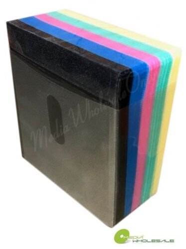 500 Non Woven CD DVD Multi Color Double Sided Plastic Sleeve - HOLD 1000 discs