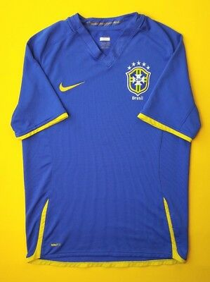 8257399e0e8 4/5 Brasil Brazil jersey small 2007 2009 away shirt soccer football Nike  ig93