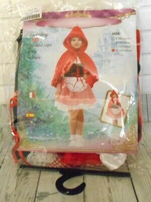 Princess Halloween Costume Girls Little Red Riding Outfit Size XL  G-0180 ](Little Girls Halloween Outfits)