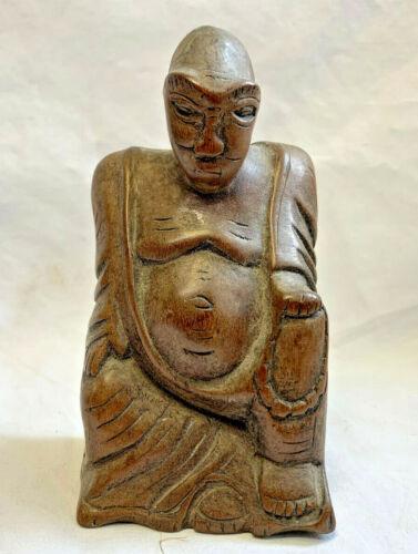 African Vtg Carved Wood Tribal Statue Fetish Figure Sculpture Man Art Alien