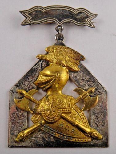 Supreme Lodge FCB Knights of Pythias Fraternal Pin Pinback Medal Badge