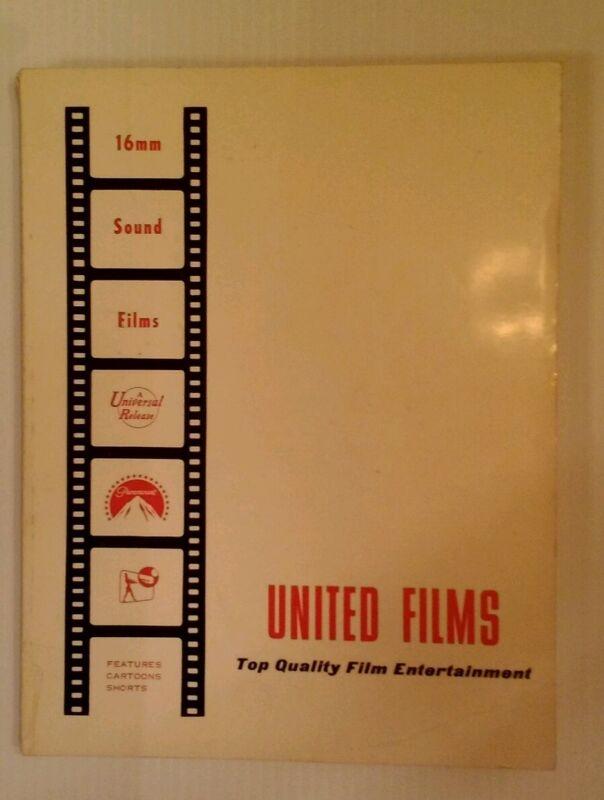 Rare 1968 Film Rental Catalogue - United 16mm - Time Machine!