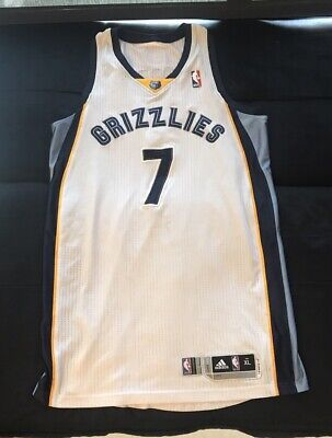 2e9e789319b Darius Morris Memphis Grizzlies Game Worn Used Jersey XL Rev30 White Home  NBA