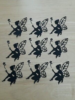 Die Cut Silhouette Fairy Card Toppers Card Making Embellishments Candle Jars