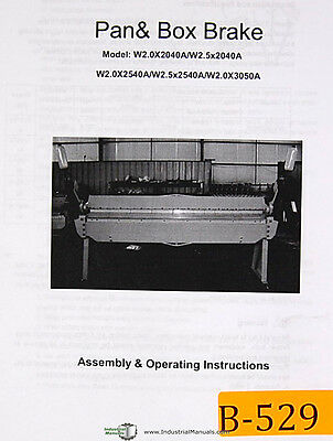Birmingham Import W2 Pan And Box Brake Assembly And Operations Manual