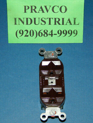 Hubbell 5662 Brown Duplex Outlet 15a 250v 3 Wire 5662