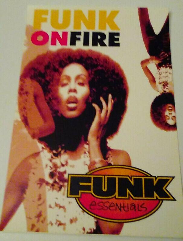 MINT PROMO STICKER! FUNK ESSENTIALS FUNK ON FIRE 1995 CAMEO BAR-KAYS OHIO PLAYER