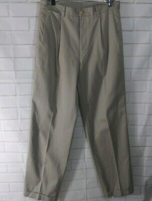 Nautica Rigger Men Khaki Chino Dress Pants Size 34x34 Cotton Classic Fit Slacks