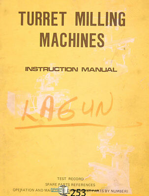 Lagun Ft1 Ft2 Ft3 Vertical Milling Machine Operations And Maintenance Manual