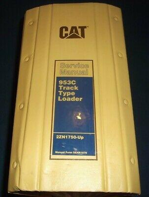 Cat Caterpillar 953c Track Loader Service Shop Repair Book Manual 2zn1750-up
