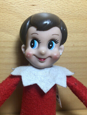 Vintage The Elf On the Shelf Christmas Girl Doll with Blue Eyes/earrings 2005