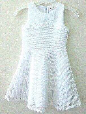 - NWT Girls S 7/8 Beautiful White Sleeveless Summer Dressy Dress Quality Kidpik