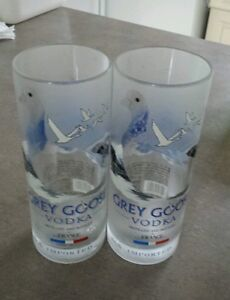 Grey Goose recycled bottle tumbler glass set of 2 .Custom Made Avaliable