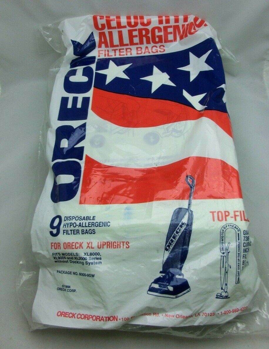 Oreck XL8000/9000/2000 Upright Hypo-Allergenic Filter Bags