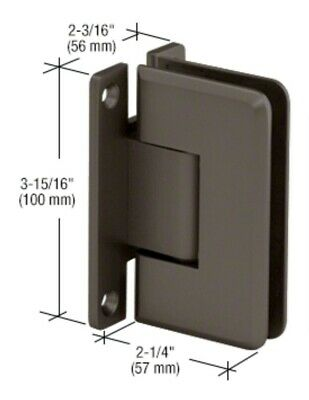 CRL Oil Rubbed Bronze Cologne 037 Series Wall Mount Hinge. For 3/8