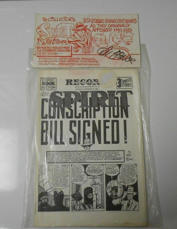 Will Eisner THE SPIRIT Collector Set 10 Comic Sections 40s SIGNED & SEALED NM #3