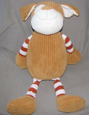 Animal Adventure Stuffed Plush Soft Brown White Stripe Puppy Dog Big Huge 2012