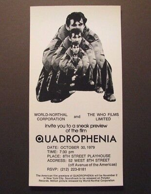 *THE WHO *QUADROPHENIA* ORIGINAL PROMO HANDBILL FLYER – PETE TOWNSEND – FINE*