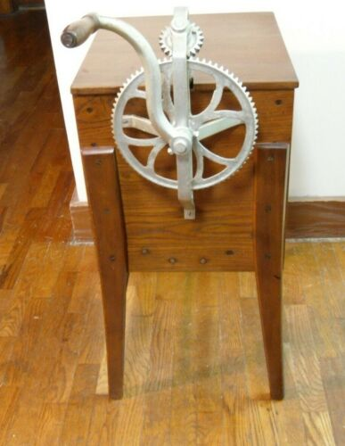Vintage Floor Model Hand Crank Gear Driven Butter Churn
