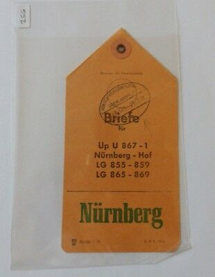 (25G) - 1971 Luggage Label? From Nuremberg