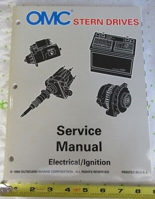 OMC Stern Drive 'LK' Boat Electrical / Ignition Service Manual 507283, 0507283