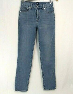 Gap 1969 Best Girlfriend Jeans Womens 24 High Waist Taper Legs Ankle 29