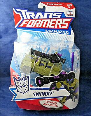 Hasbro Transformers Animated Swindle Decepticon Deluxe Class -- NEW!!