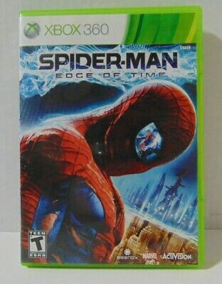 Xbox 360 Spiderman Edge Of Time Video Game Complete Case Manual CIB Marvel Teen