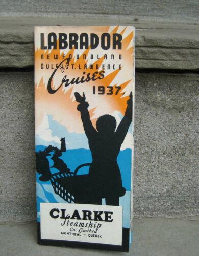 1937 Clarke Steamship Co. Labrador Newfoundland Cruises Brochure
