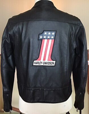 HARLEY DAVIDSON Women's Size XL Black #1 Leather Jacket in Great Condition!