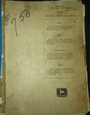 John Deere 420 430 Tractor Parts Manual Catalog Book Factory Original 1963 Oem