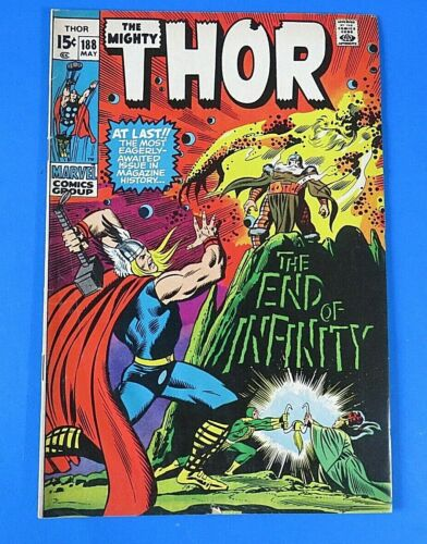 MIGHTY THOR #188 ~ 1971 Marvel BRONZE AGE COMIC BOOK Origin Of Infinity ~ VF