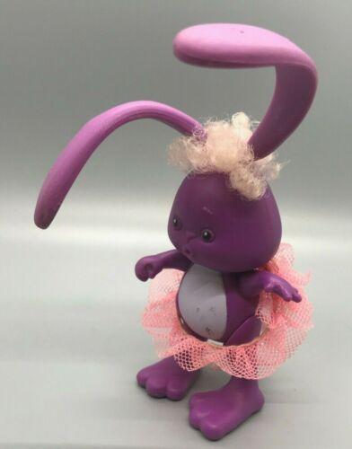 Greer w Tutu Kenner Grabbits Purple Bunny Rabbit bendy ears Figure 80s Toy 1989